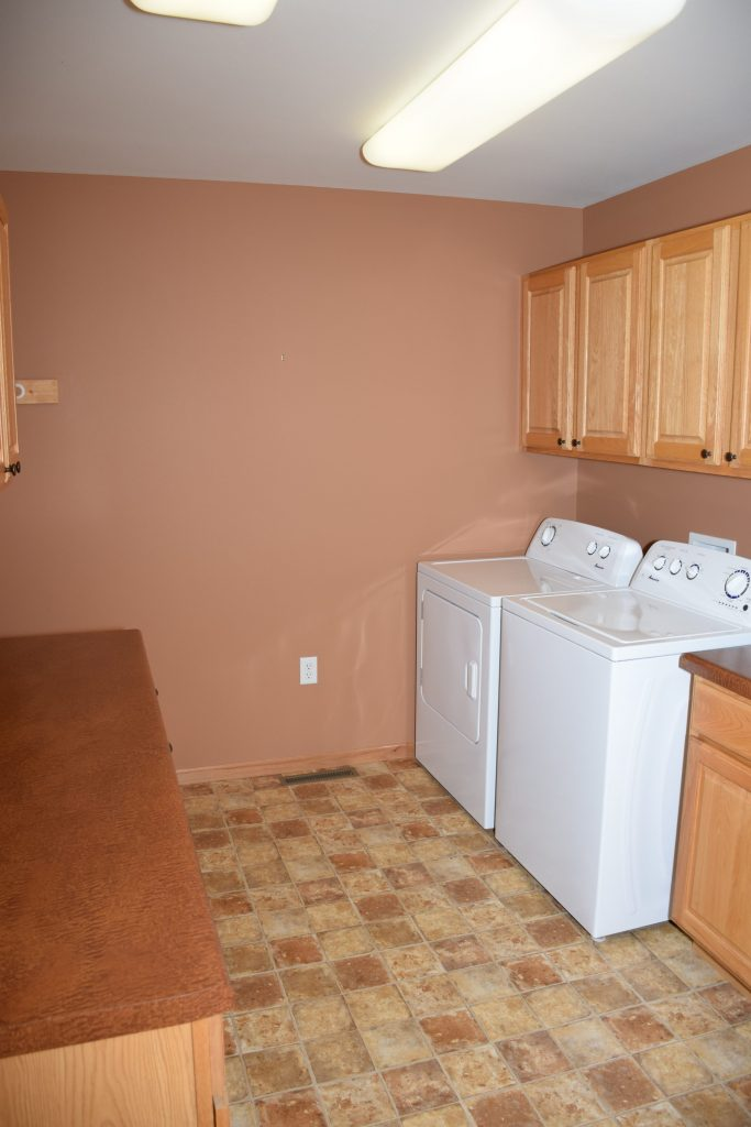 One Room Challenge ORC Week 1 Mudroom Laundry Room Before Washer Dryer