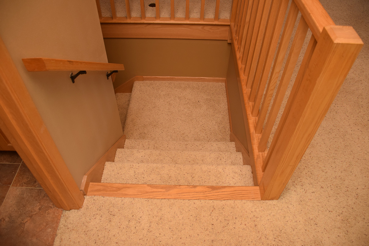 Before laying Hardwood Flooring in stair landing