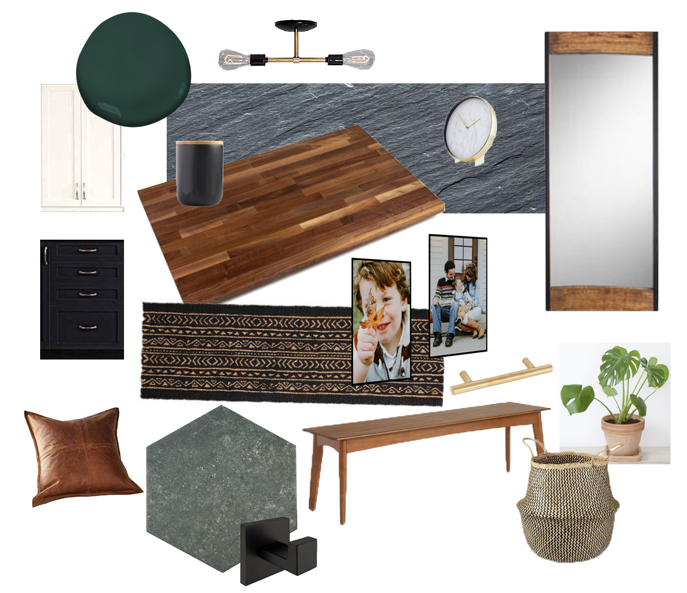 moodboard mudroom one room challenge