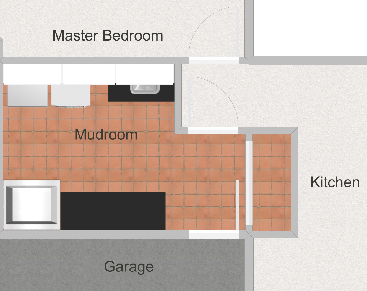 One Room Challenge ORC Week 1 Mudroom Laundry Room Layout Before