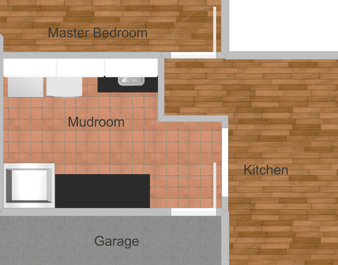 One Room Challenge ORC Week 1 Mudroom Laundry Room Layout Progress