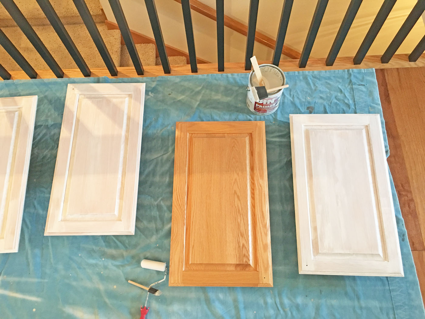 Mudroom Cabinet Doors Priming