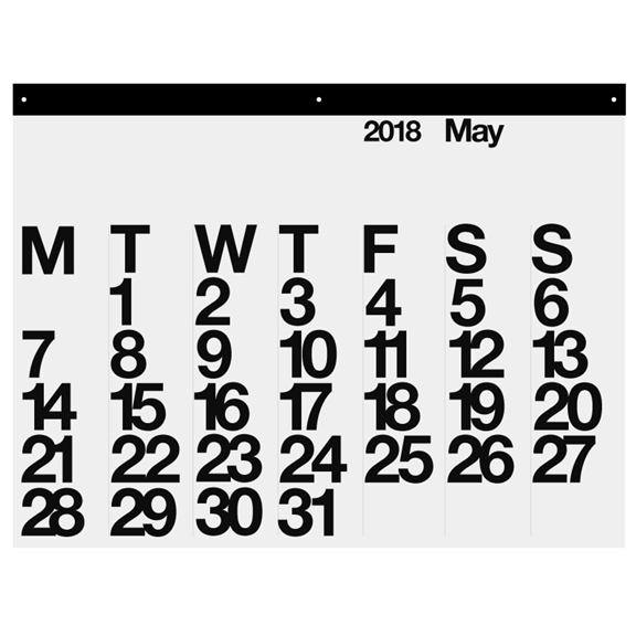Stendig calendar graphic black and white