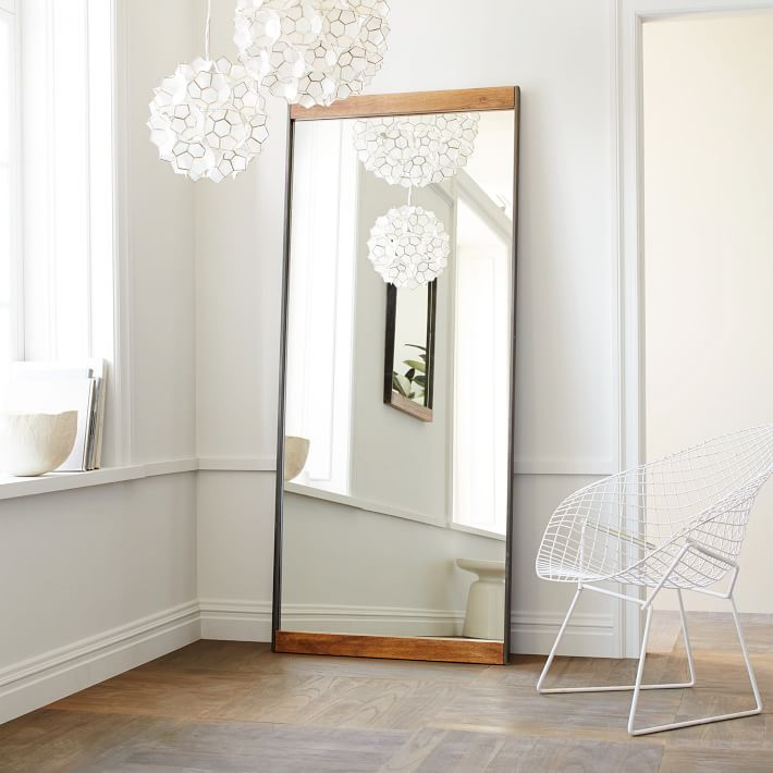 Inspiration west elm Industrial Floor Mirror, Mango Wood