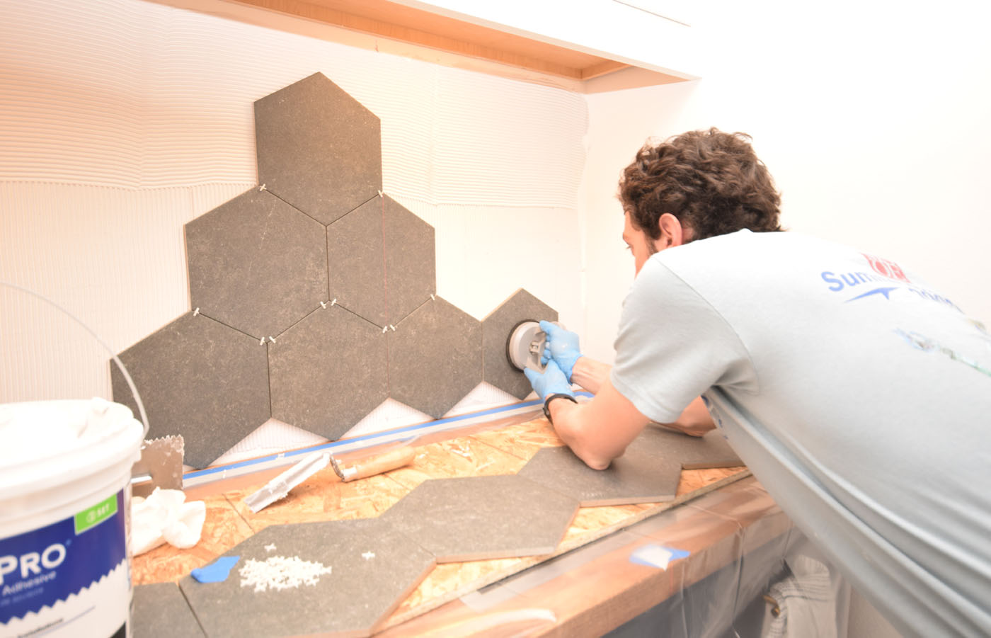 One Room Challenge Week 5 Tile Installation Start